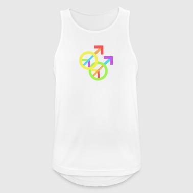 Gay Pride & Peace - Male - Men's Breathable Tank Top
