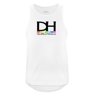 DH Health&Fitness Large logo - Men's Breathable Tank Top