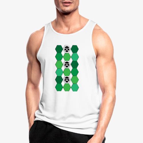 |K·CLOTHES| HEXAGON ESSENCE GREENS & WHITE - Camiseta sin mangas hombre transpirable