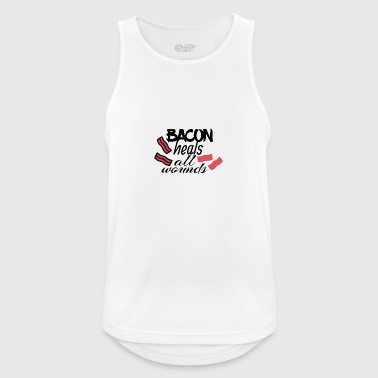 Bacon heals everything - Men's Breathable Tank Top