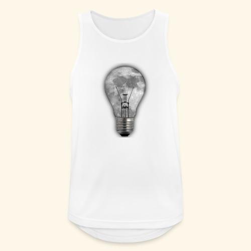 moon bulb - Camiseta sin mangas hombre transpirable