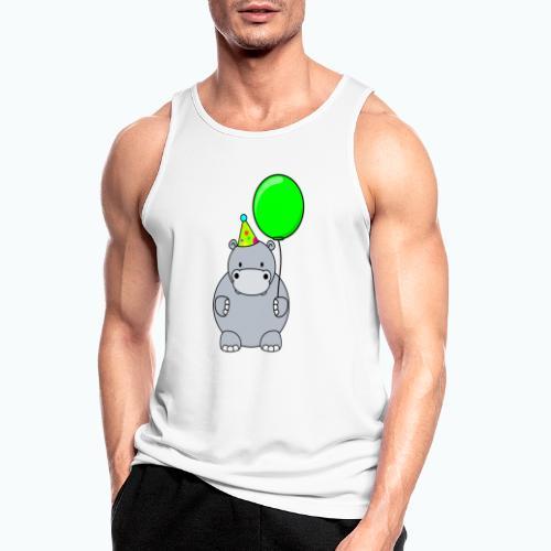 Henri Hippo Party - Appelsin - Andningsaktiv tanktopp herr