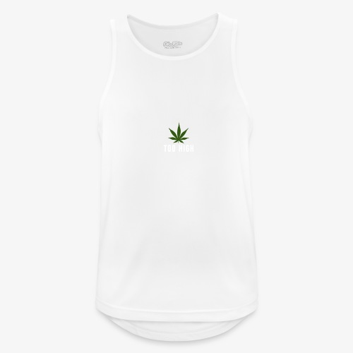 too high design - Mannen tanktop ademend