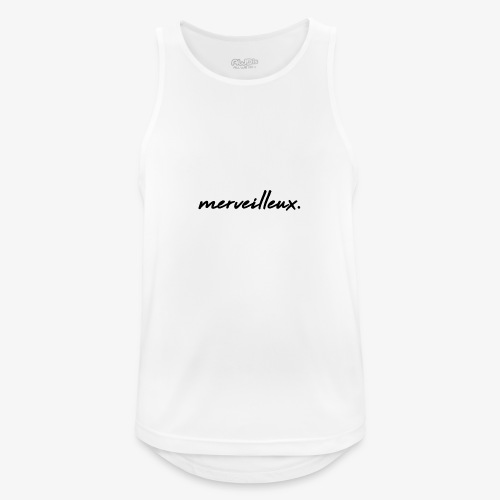 merveilleux. Black - Men's Breathable Tank Top