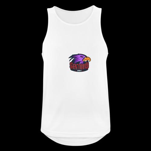 Sektion9 logo lila - Männer Tank Top atmungsaktiv