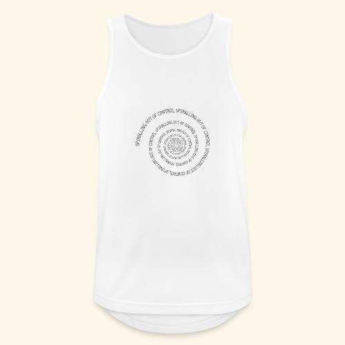 SPIRAL TEXT LOGO BLACK IMPRINT - Men's Breathable Tank Top
