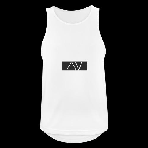 AV White - Men's Breathable Tank Top