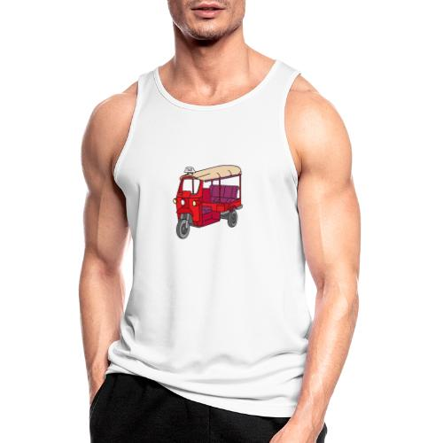 Rote Autorikscha, Tuk-tuk - Männer Tank Top atmungsaktiv