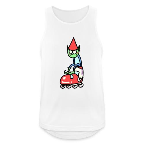 El gnomo en el patín - Camiseta sin mangas hombre transpirable