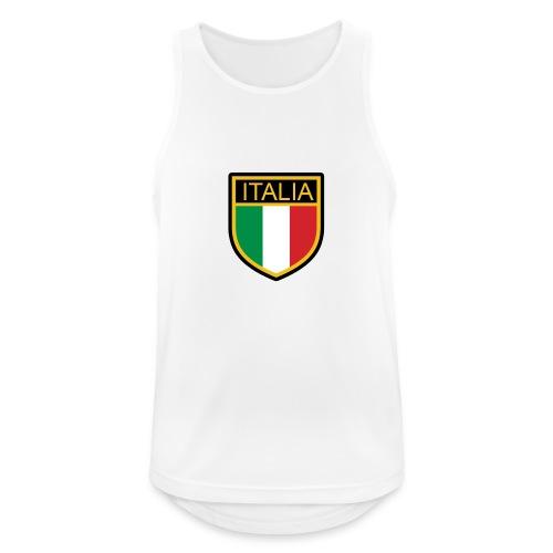 SCUDETTO ITALIA CALCIO - Canotta da uomo traspirante
