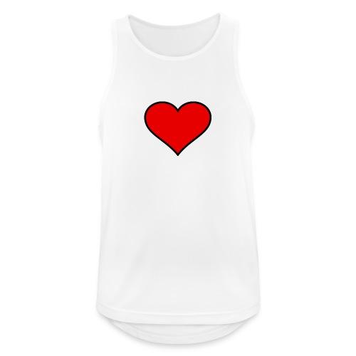 big heart clipart 3 - Andningsaktiv tanktopp herr