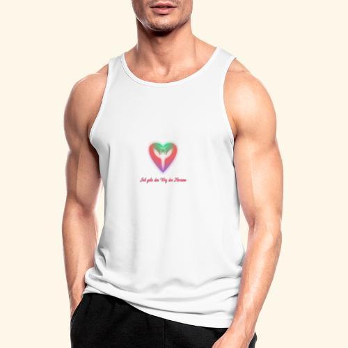 Ich gehe den Weg meines Herzens - Männer Tank Top atmungsaktiv