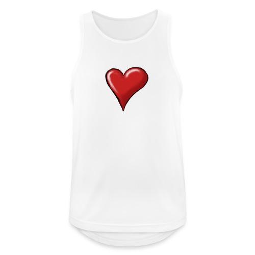 Love (coeur) - Débardeur respirant Homme