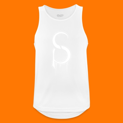 SCP-sign-WHITE transp - Men's Breathable Tank Top