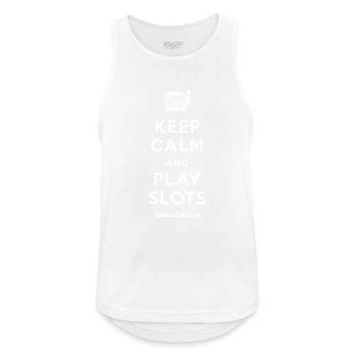 Keep Calm and Play Slots - Men's Breathable Tank Top