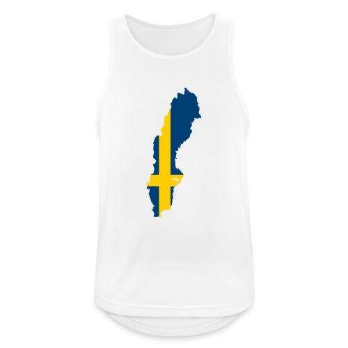 Sweden - Mannen tanktop ademend actief