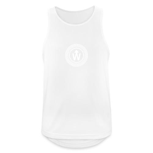 wit logo transparante achtergrond - Mannen tanktop ademend