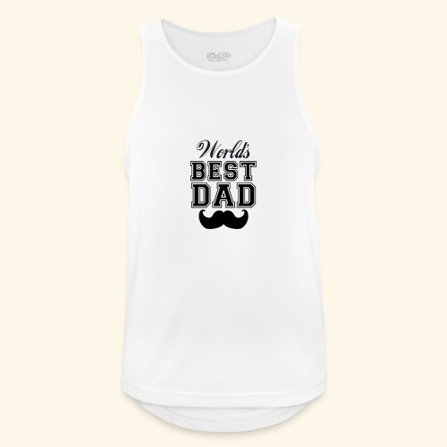 Worlds best dad - Herre tanktop åndbar