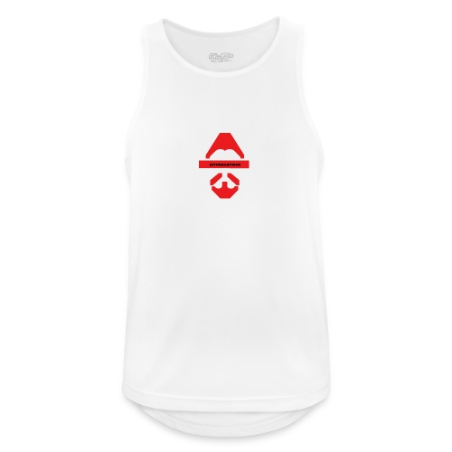 Biturzartmon Logo rot glatt - Männer Tank Top atmungsaktiv