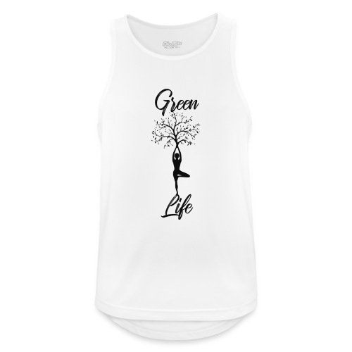 Greenlife Yoga Leben Nachhaltig Klimawandel - Männer Tank Top atmungsaktiv