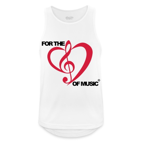 For the love of music - Men's Breathable Tank Top