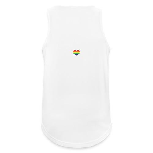 Rainbow heart - Men's Breathable Tank Top
