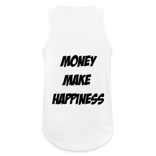 Money Make Happiness - Canotta da uomo traspirante