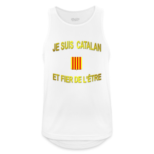 Tee-Shirt supporter du pays CATALAN - Débardeur respirant Homme