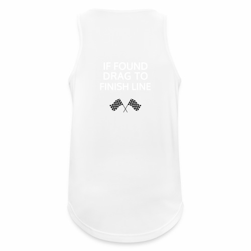 If found, drag to finish line - hardloopshirt - Mannen tanktop ademend actief