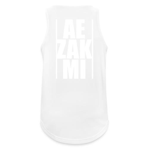 AEZAKMI-white, back - Tank top męski oddychający