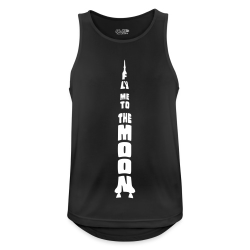 Fly me to the moon - Mannen tanktop ademend actief