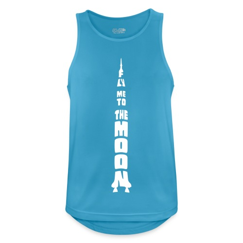 Fly me to the moon - Mannen tanktop ademend