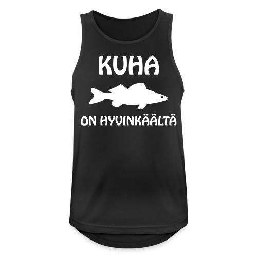 KUHA ON HYVINKÄÄLTÄ - Miesten tekninen tankkitoppi