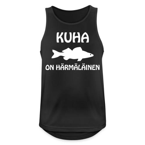 KUHA ON HÄRMÄLÄINEN - Miesten tekninen tankkitoppi