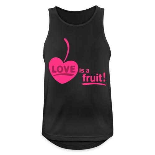 love_is_a_fruit_2c_225x225 - Männer Tank Top atmungsaktiv