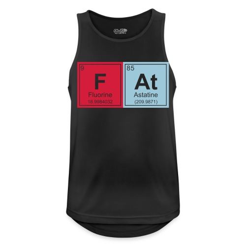 Geeky Fat Periodic Elements - Men's Breathable Tank Top