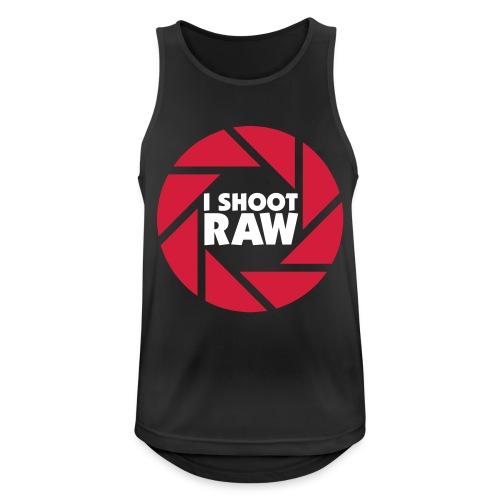 I shoot RAW - weiß - Männer Tank Top atmungsaktiv