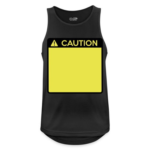 Caution Sign (2 colour) - Men's Breathable Tank Top