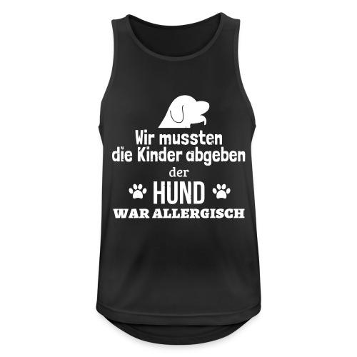 Hund war allergisch - Männer Tank Top atmungsaktiv