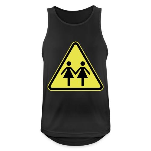 ACHTUNG LESBEN POWER! Motiv für lesbische Frauen - Männer Tank Top atmungsaktiv