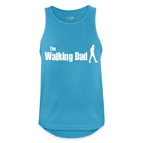 the walking dad white text on black - Men's Breathable Tank Top