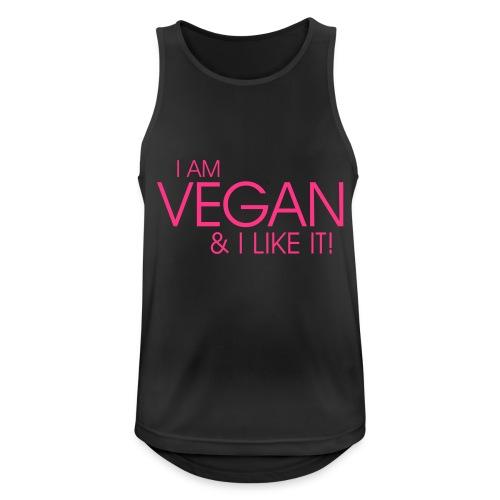 I am vegan and I like it - Männer Tank Top atmungsaktiv
