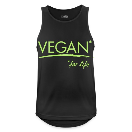 vegan for life 1c - Männer Tank Top atmungsaktiv