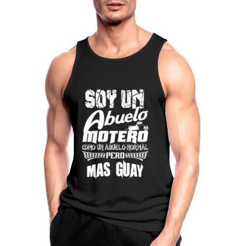 Soy un abuelo motero - Camiseta sin mangas hombre transpirable