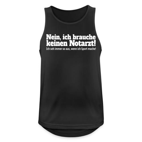 Sport Spruch - Männer Tank Top atmungsaktiv