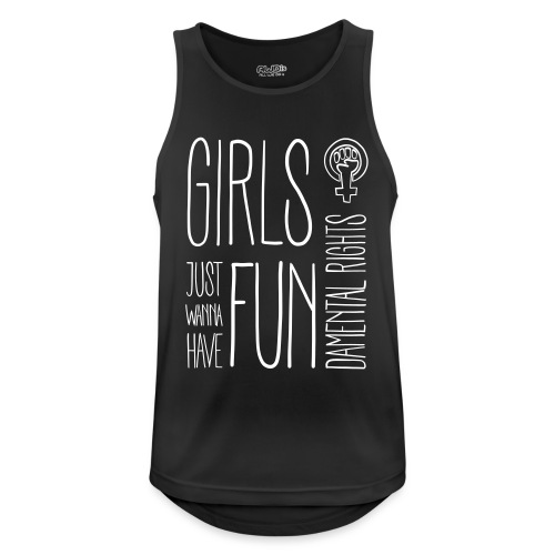 Girls just wanna have fundamental rights - Männer Tank Top atmungsaktiv