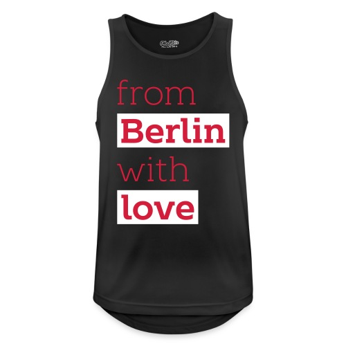 From Berlin with Love - Männer Tank Top atmungsaktiv