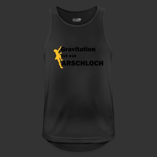 Gravitation Arschloch - Männer Tank Top atmungsaktiv