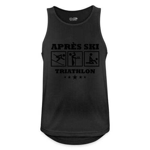 Apres Ski Triathlon | Apreski-Shirts gestalten - Männer Tank Top atmungsaktiv
