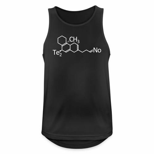 Techno Molekül Chemie Elemente Afterhour Clubbing - Männer Tank Top atmungsaktiv
